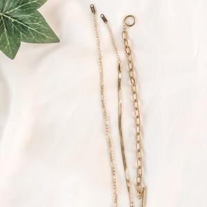 Herringbone, chain and link, and figaro bracelets